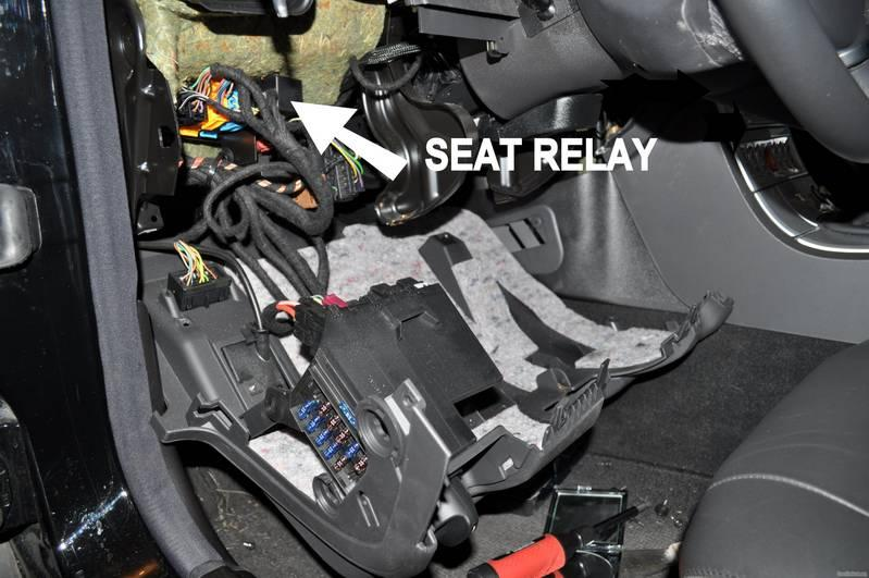 Position of Relay - Replacing The Seat Relay